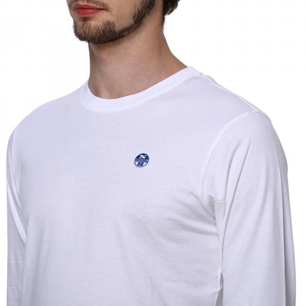 T Con 692501 Maniche shirt Logo Uomo North Lunghe SailsA PTwOXZuik