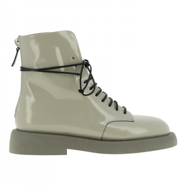 Marsell Gommello 光亮真皮橡胶鞋底拉链短靴