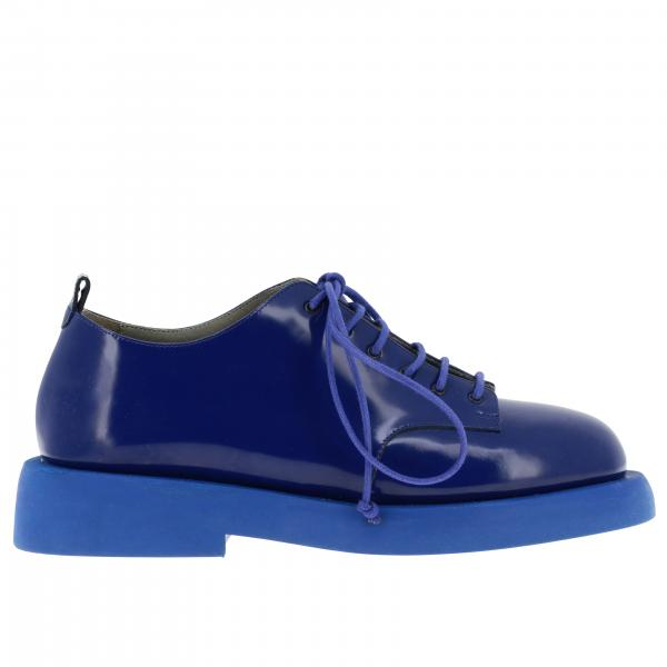 Marsell Pedula Gommello derby shoes in shiny leather with rubber sole