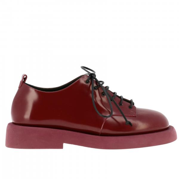 Pedula Gommello Marsell derby shoes in shiny leather with rubber sole