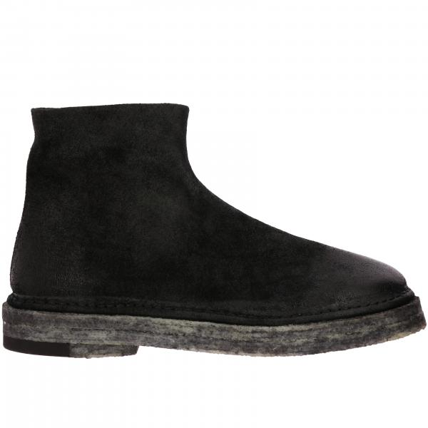 Marsell Zip Parapa suede ankle boots with rubber sole and zip
