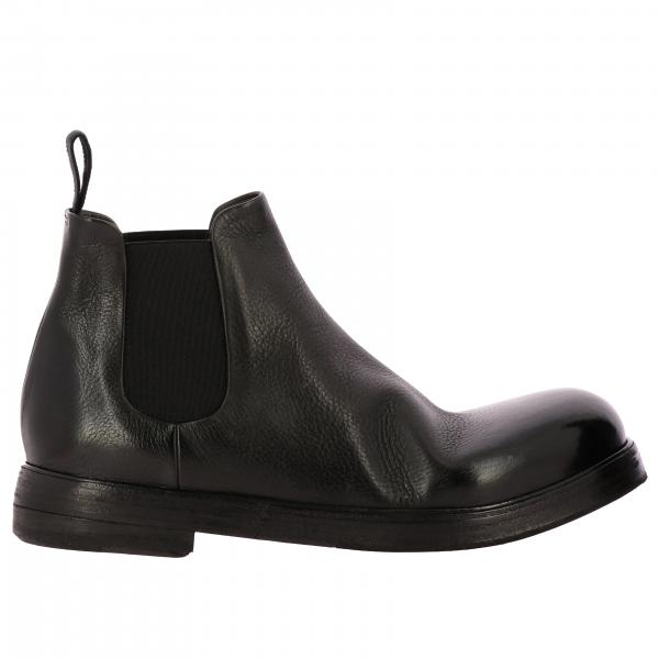Marsell Zucca Zeppa Boots in shiny leather