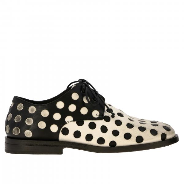 Derby Scalpello Marsell in pelle a pois