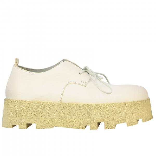 Marsell Tacca Derby in natural leather with microporous rubber sole