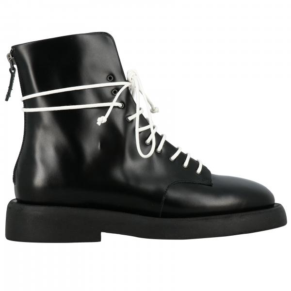 Marsell Gommello boots in leather with rubber sole