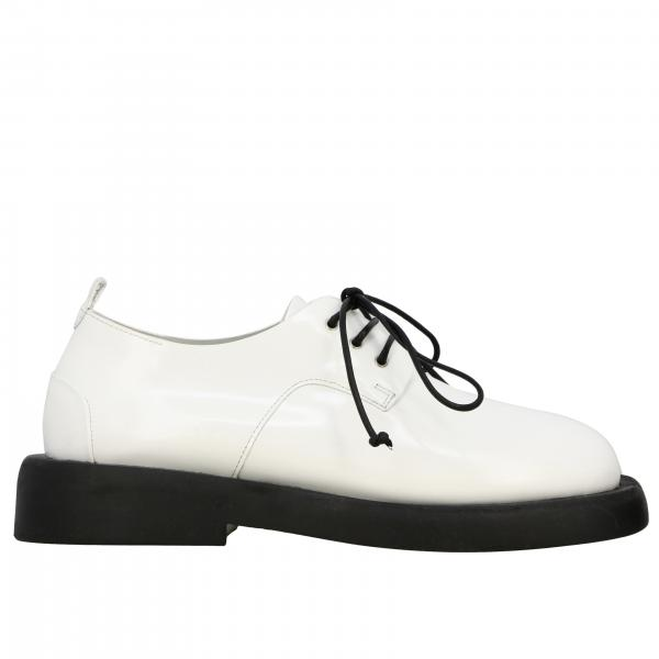 Marsell Derby Gommello in shiny leather with rubber sole