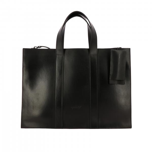 Marsell Tostella leather bag with double handles and logo
