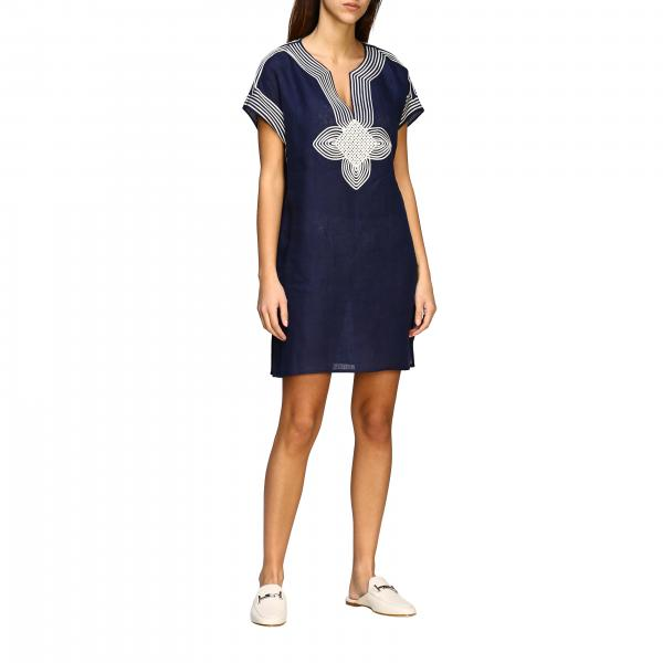 Короткое платье-туника Tory Burch