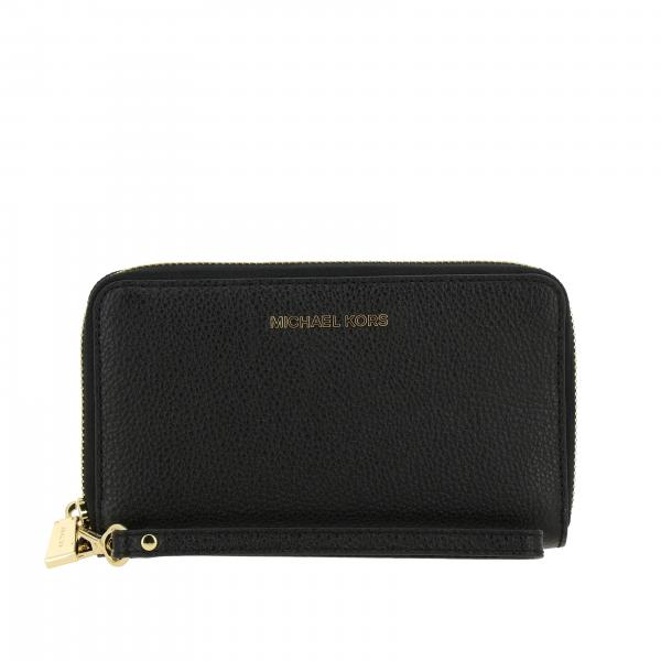 Michael Michael Kors wallet in leather with metallic logo