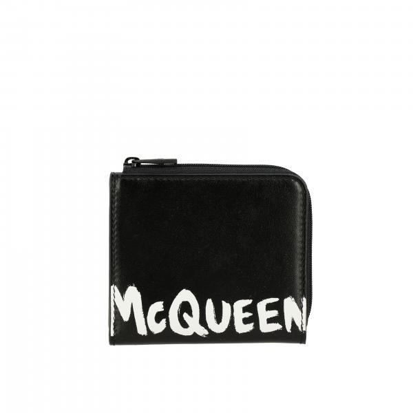 Porta monete Mcq Mcqueen in pelle con maxi stampa logo