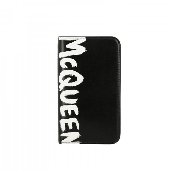 Portafoglio Mcq Mcqueen verticale in pelle con logo