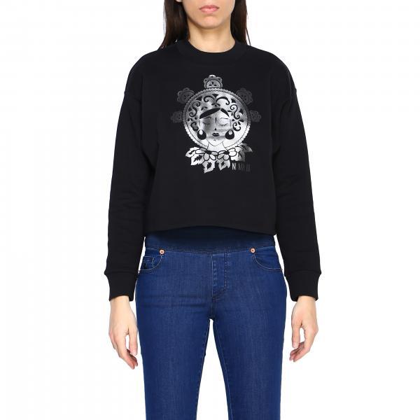 Matrangela Ni ma bi sweatshirt with laminated print