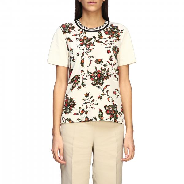 T-shirt Tory Burch con stampa floreale