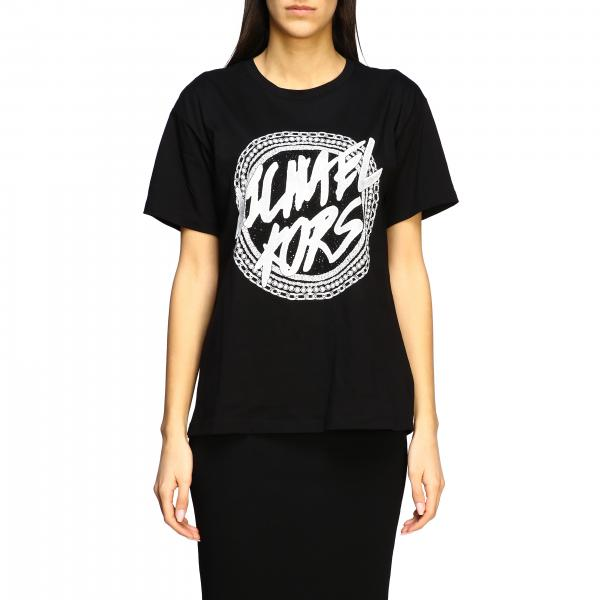 Michael Michael Kors t-shirt with big logo and rhinestones