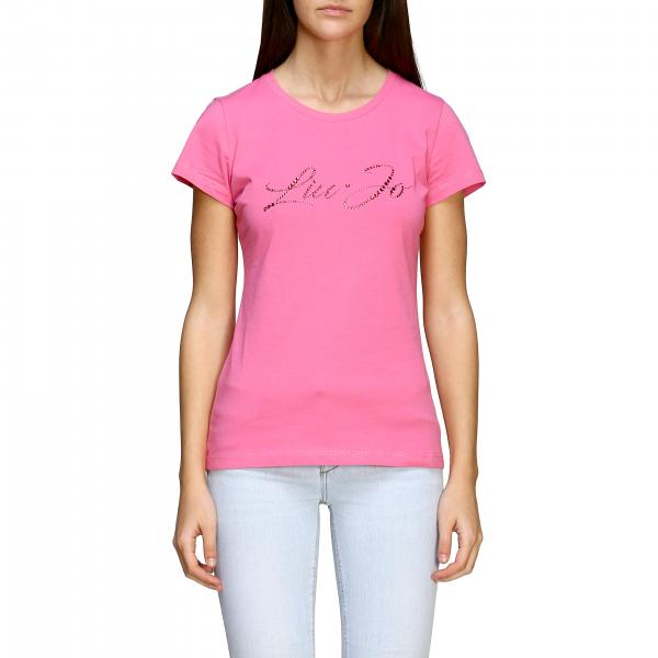 Liu Jo 水钻logo短袖T恤