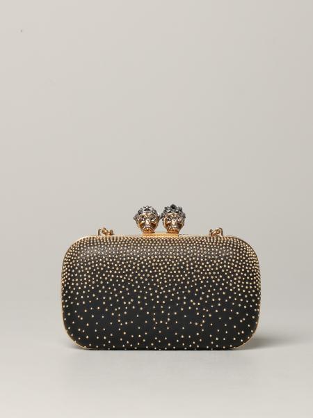 Clutch gioiello Mcq Mcqueen in pelle con borchie metalliche