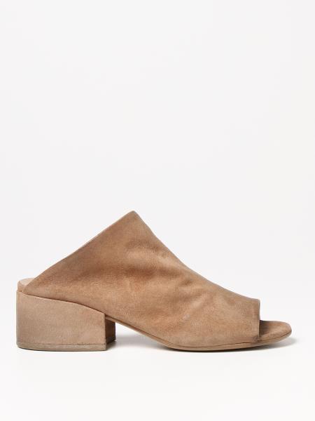 Босоножки на каблуке из замшевой кожи Женское Marsell