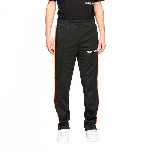 Pantalone Palm Angels jogging con logo e bande a righe