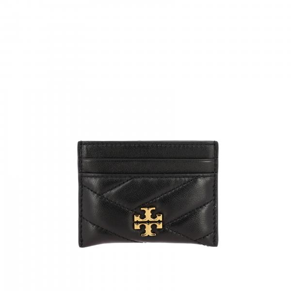 Tory Burch credit card holder in quilted leather with metallic emblem