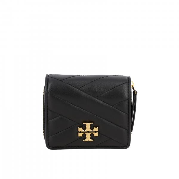 Tory Burch wallet in quilted leather with metallic emblem
