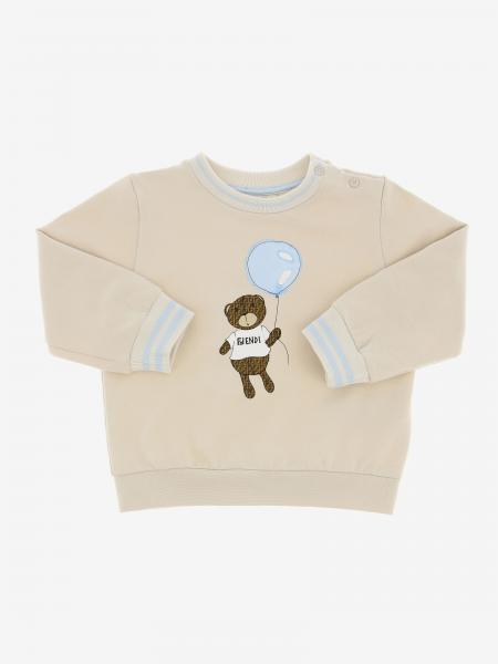 Fendi crew neck sweater with teddy bear and balloon