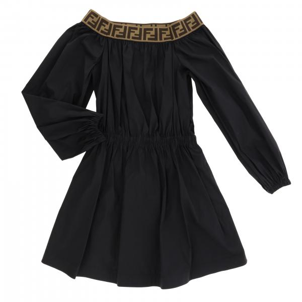 Fendi dress with boat neckline and FF all over band