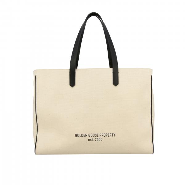Golden Goose logo装饰帆布手提袋