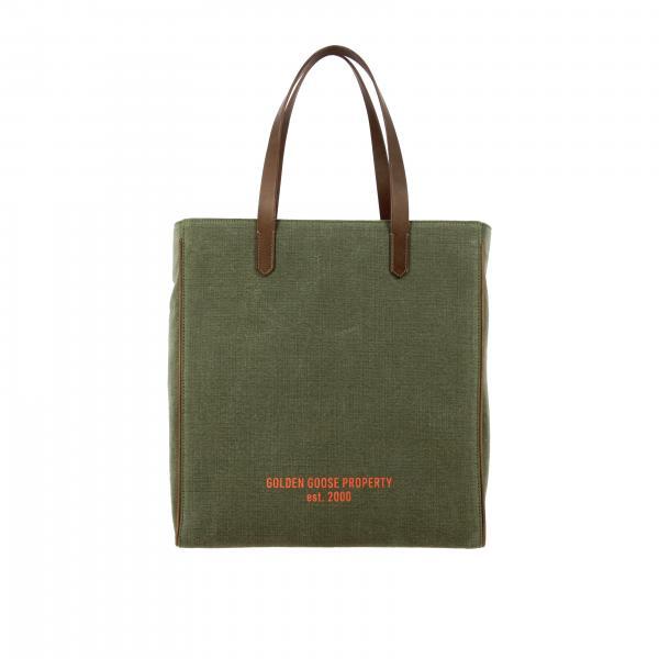 Golden Goose canvas handbag with logo