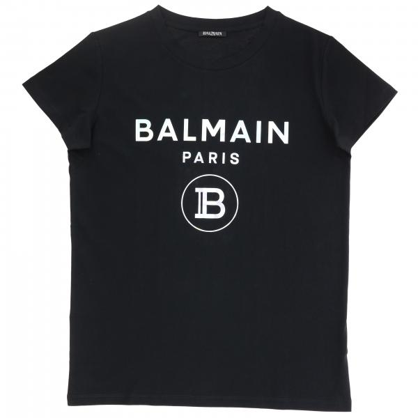 Balmain logo印花短袖T恤