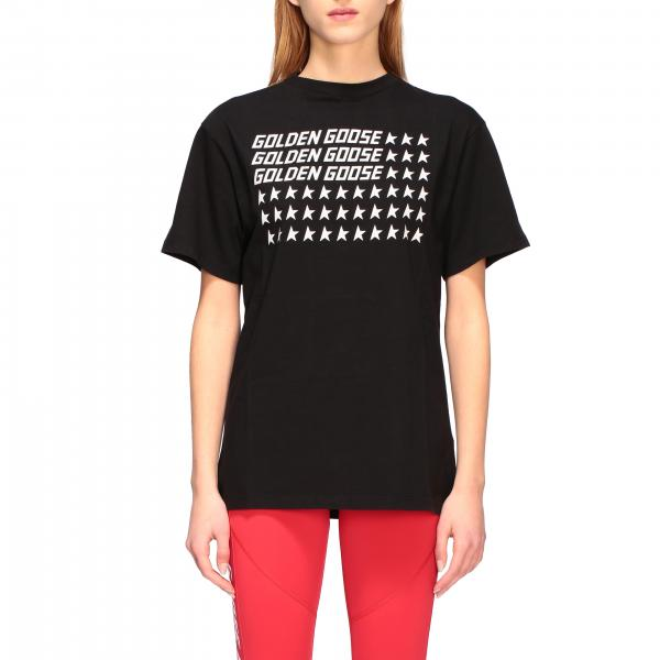 Golden Goose t-shirt with brand flag print