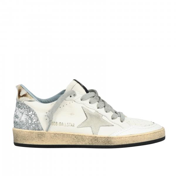 Golden Goose Ball star sneakers in leather with suede star