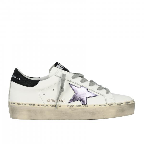 Golden Goose leather sneakers with laminated star