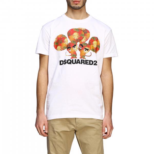 T-shirt Dsquared2 a maniche corte con big stampa e logo