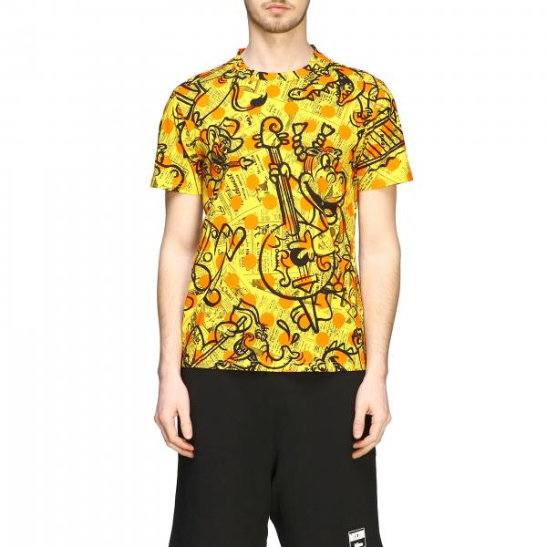 T-shirt Moschino Couture a fantasia con big stampe all over