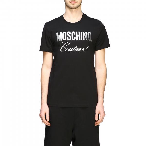 T-shirt Moschino Couture a maniche corte con stampa logo laminata