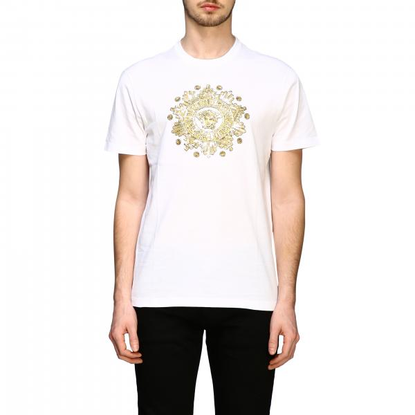 Versace short-sleeved T-shirt with jellyfish head print