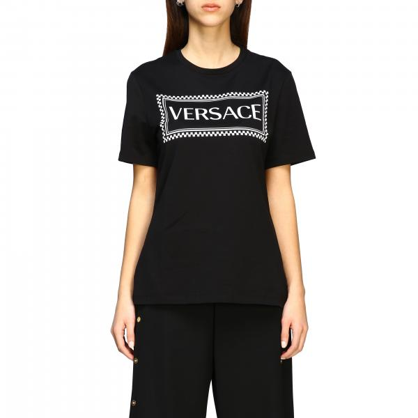 T-shirt Versace a maniche corte con logo