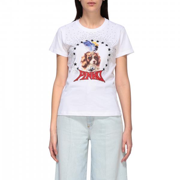 Pinko 狗印花圆领T恤