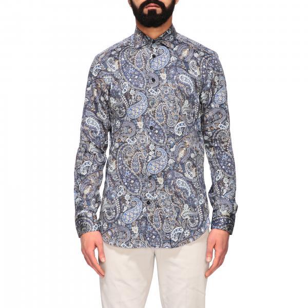 Camicia Etro con stampa paesley e collo italiano