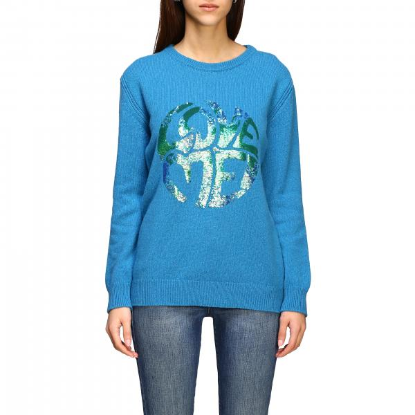 Alberta Ferretti sweater with sequin love me writing