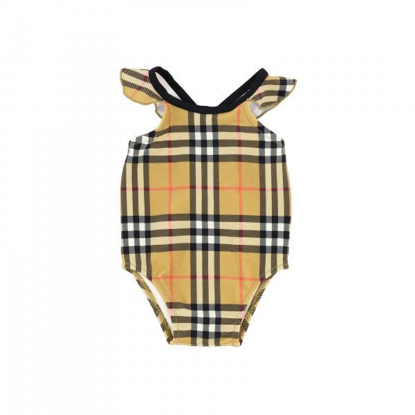Costume Burberry Infant intero in tessuto check