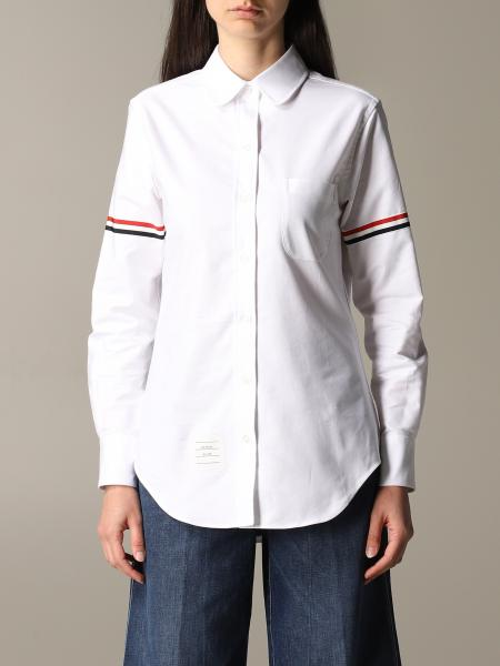 Thom Browne classic shirt with striped bands