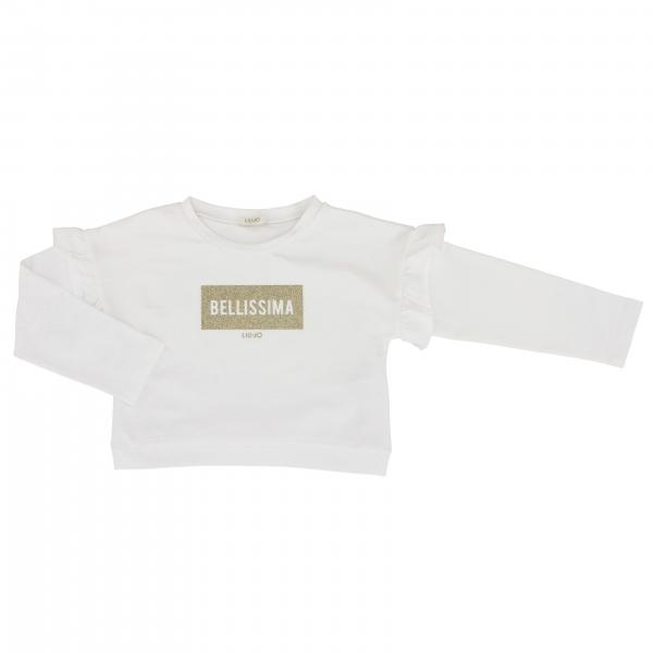 Liu Jo crew-neck sweater with Bellissima writing