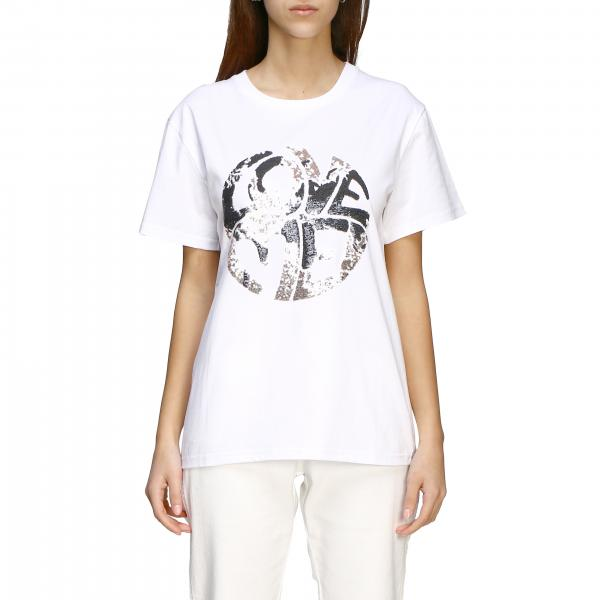 Alberta Ferretti T-shirt with sequin writing