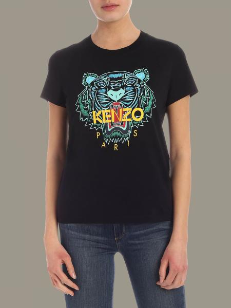 Kenzo short-sleeved T-shirt with Tiger Kenzo Paris logo