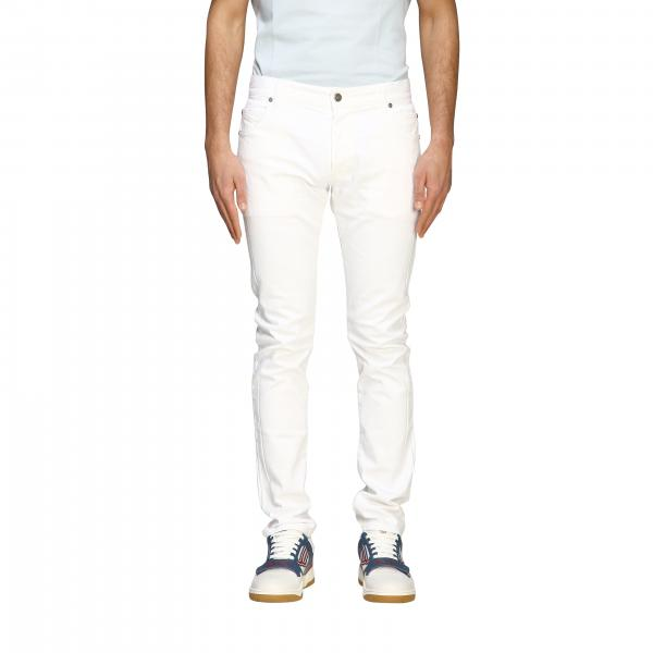 Jeans Balmain in denim scuro modello a 5 tasche