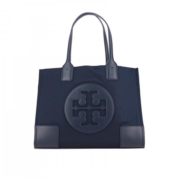 Borsa Ella mini tote Tory Burch in nylon con stemma