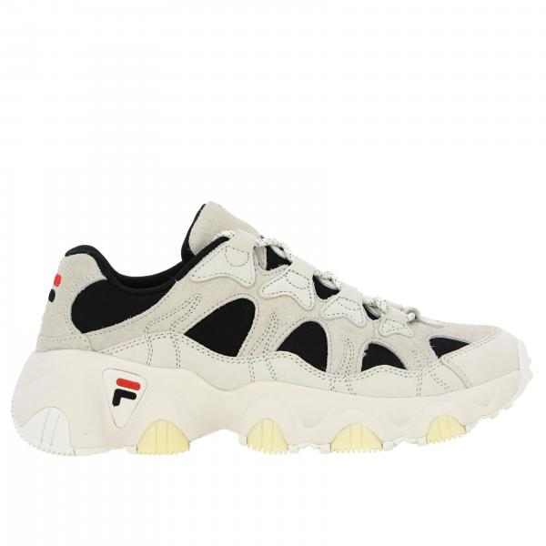 Fila sneakers in leather and mesh suede