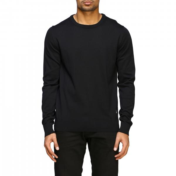Balmain basic crew neck sweater with mini logo