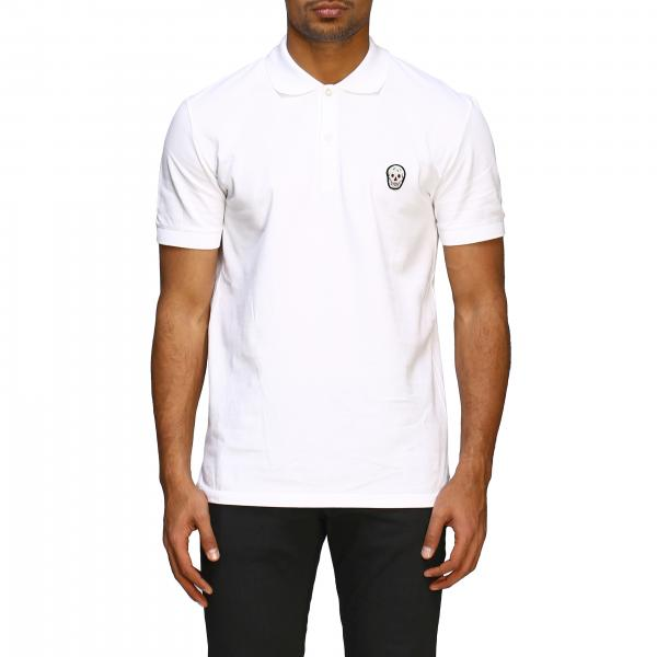 Alexander Mcqueen short-sleeved polo shirt with skull